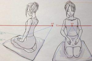 [漫画・イラストテクニック]座りポーズは座布団が必須!?