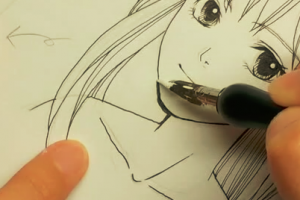 [マンガ/ホワイト]つけペン(漫画ペン)で加筆修正の方法