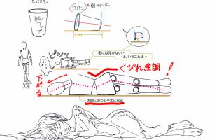 [漫画イラスト教室]立ちポーズを横向きにすれば寝ポーズに…ならんな!