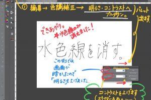 [手描きイラストデジタル化]手描き原稿の水色下書き線画だけを消す方法(Photoshop/CLIPSTUDIO)